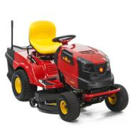 A   Wolf-Garten     fűnyíró traktor A 92.165H benzinest   elsősorban a nagyobb méretű, 2000 m² alapterületű kertekhez ajánljuk. A könnyű le és felszállást biztosító vázon ergonomikusan kialakított állítható magasságú magasított háttámlás ülés szolgálja a gépkezelő kényelmét.   A   Wolf-Garten      fűnyíró traktor A 92.165H   talajkövető vágóasztallal szerelt, ami azonos magasságú vágást tesz lehetővé. A 240 literes fűgyűjtőben gyűjthető össze a hátsó kiszóró nyíláson távozó füvet. A beépített fényszórónak köszönhetően szürkületben sem kell a munkát abbahagynunk. A hidrosztatikus (lábpedállal kapcsolható  sebesség  és  irányváltás ) hajtás egyenletes sebességet biztosít, közben mindkét kezünk a kormányon lehet.