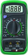 Az MAS 830 digitális  multiméterhez  tartozékként jár a mérőzsinór és a 9 V-os elem.     A  multiméter  elérhető funkciói : diódavizsgálat, szakadásvizsgálat, mért érték rögzítés.    Egyenfeszültség: 200 mV / 2V / 20V / 200V / 600V   Váltófeszültség: 200V / 600V   Egyenáram: 20 μA / 200 μA / 2 mA / 20 mA / 200 mA / 10 A   Kijelzőszámláló: 1999     Mérési kategória: CAT II 600 V