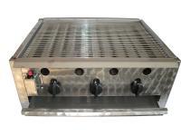 A Gáz-Grill PB-gáz üzemű asztali grillező készüléke háromégős kivitelű. A gyors és biztonságos piezoelektromos gyújtással és termoelektromos égésbiztosítóval. A rostélyrács krómozott. A zsírfelfogó tálca, a lángvédő burkolat és a fogó nemesacélból készült. Tömlőcsővel és szabályzóval szállítva. A Gáz-Grill PB-gáz üzemű asztali grillező  nagyobb mennyiségű étel készítésére használható.