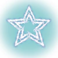 Home csillag ablakdísz  (KID 503) . 35 db melegfehér izzó található rajta. Szélessége és magassága 40 cm. Tápellátása hálózati (230 V). Pótizzó: L 35D.
