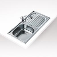 Teka EBM mosogatótál , (30000091) . Rozsdamentes acélból készült. 1 medencével és 1 csepptálcával rendelkezik. Hagyományos, ráépíthető, megfordítható. 1  ½