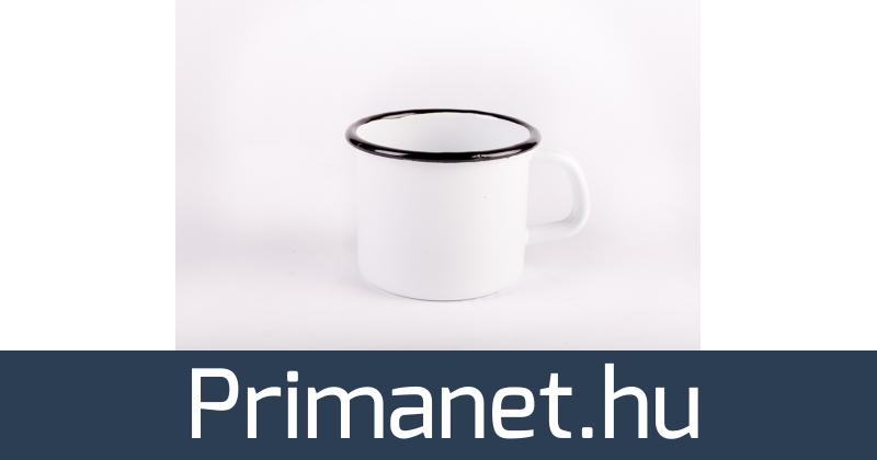 837b28e271 Bonyhádi zománcozott bögre fehér 8 cm - PrimaNet online szakáruház