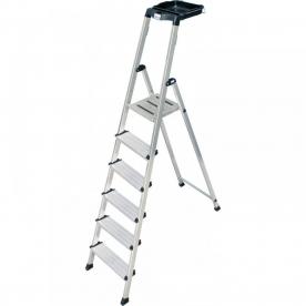 Krause Monto Secury lépcsőfokos állólétra 6 fokos  (126542)
