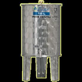 Inox 12 l-es bortartály, úszófedeles, paraffinos, 1 csappal (Zottel) (10470)