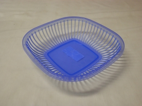 Kenyérkosár, műanyag 25x25 cm kék