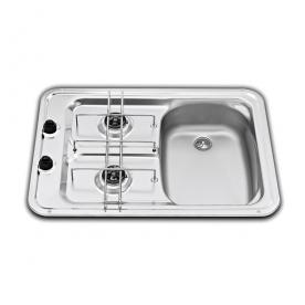 Dometic beépíthető gázfőzőlap + mosogató MO917R, PB-gáz üzemű