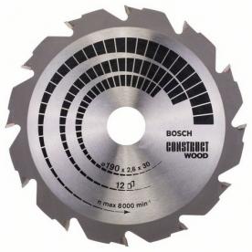Bosch Körfűrészlap Construct Wood, 190 x 30 x 2,6 mm, 12 (2608640633)