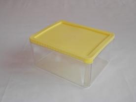 Sárga műanyag ételdoboz 2 l