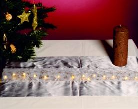 Home LED-es asztalterítő ezüst 110 x 30 cm (KLT 10/GY)