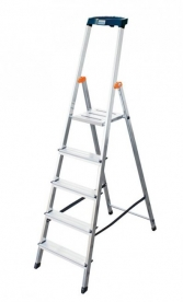 Krause Monto Safety állólétra 5 lépcsőfokos  (126337)