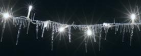 Home LED-es fényfüzér jégcsapokkal, hidegfehér, kültéri (KLG 50)