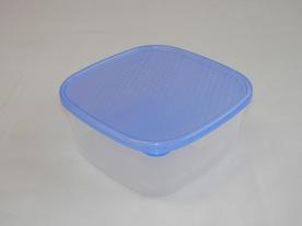 Szögletes műanyag ételdoboz 1,2 l kék
