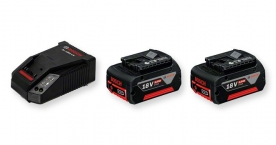 Bosch akkukészlet gyorstöltővel 2 x GBA 18 V 5,0 Ah M-C (1600A002TD)