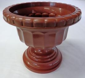 Görög váza, 21 cm, barna műanyag