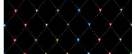 Home LED-es háló, színes 6x4 m (KLN 400/M)