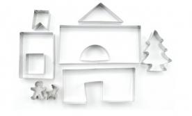 Mézeskalács ház kiszúró készlet 10 db-os (12406)