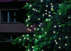 Home LED-es fényfüzér melegfehér, sorolható kültéri (KTI 200/WW)