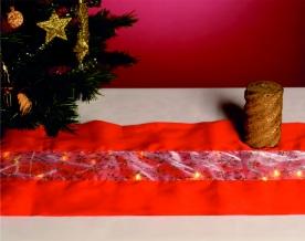 Home LED-es asztalterítő piros 110 x 30 cm (KLT 10/RD)