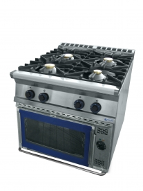 4 égős gáztűzhely GN 2/1 elektromos sütővel - GT4.98GES