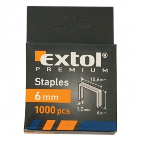 Extol Premium tűzőgépkapocs 6 mm, 1000 db (8852201)