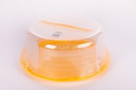 Füles műanyag tortabúra-sárga