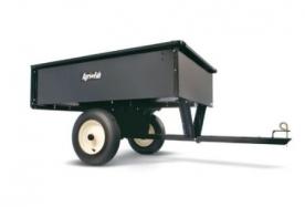 WOLF-Garten vontatható acél utánfutó 340 kg fűnyíró traktorhoz (196-507-000)