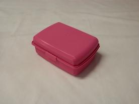 Uzsonnás műanyag doboz pink (517)