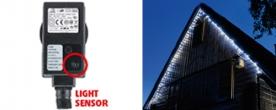 Home LED-es fényérzékelős fényfüzér, hidegfehér (KTL 108/WH)