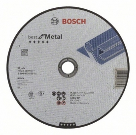 Bosch Best For metal darabolótárcsa egyenes, A 30 V BF 230 mm (2608603530)