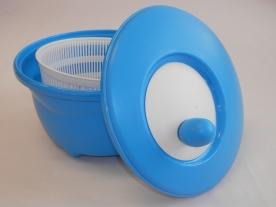 Salátacentrifuga kék műanyag
