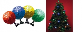 Home LED-es gömb izzós fényfüzér színes (KIB 48/M)