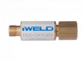 Iweld FB20 visszavágás-gátló patron oxigén markolatra G1/4