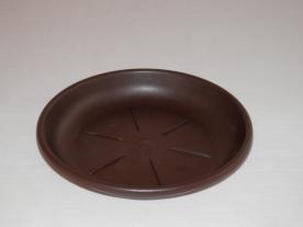 Virágtartó alátét, 50 cm, barna műanyag