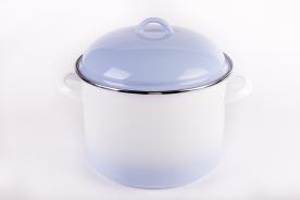 Bonyhádi zománcozott fazék + fedő kék árnyalt 22 cm