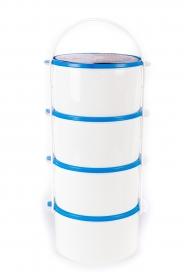 Családi műanyag ételhordó 4 részes 2 l, kék (81)