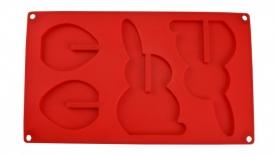 3D nyuszi és tojás csokiforma (28181)