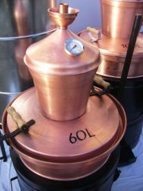 Vajda pálinkafőző 100 L-es kétlépcsős, leégésgátlóval (12266)