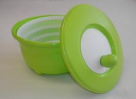 Salátacentrifuga almazöld műanyag