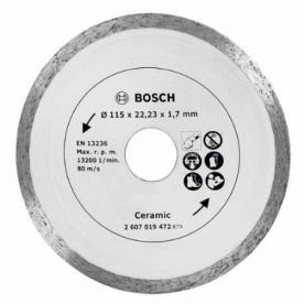 Bosch gyémánt vágótárcsa kerámiához, 115 mm (2607019472)