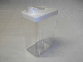 Szögletes műanyag fűszertartó 1,5 kg-os fehér