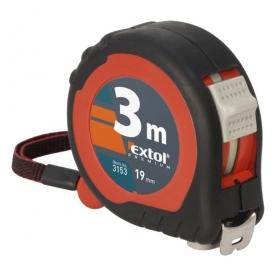Extol mérőszalag 2 stoppos 3mx19mm, gumis (3153)