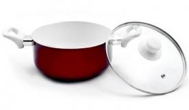 Lábas üvegfedővel 24 cm, kerámia bevonatos (28366)