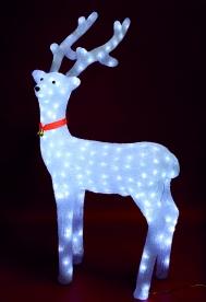 Home LED-es rénszarvas dekoráció, akril 100 cm (KDA 5)
