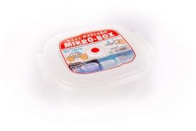 Szögletes műanyag ételdoboz, dátumjelzős 2,4 l