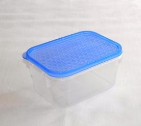 Hasáb alakú műanyag tárolódoboz 0,5 l kék