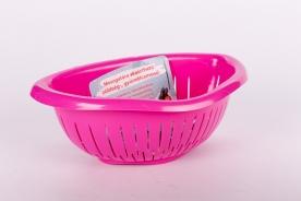 Mosogatóra akasztható műanyag gyümölcsmosó - Pink
