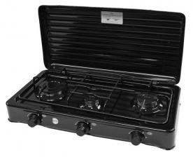MPM gázfőző 3 égős, fekete (SMILE-KN-03-1KB) (gázrezsó)