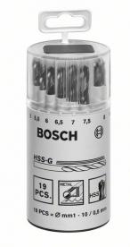 Bosch Robust Line HSS-G fémfúró készlet 19 részes, műanyagdobozos (2607018361)