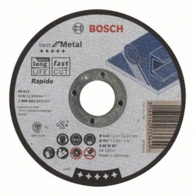 Bosch Best For metal darabolótárcsa egyenes, A 60 W BF 115 mm (2608603512)