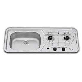 Dometic beépíthető gázfőzőlap + mosogató MO911L, PB-gáz üzemű